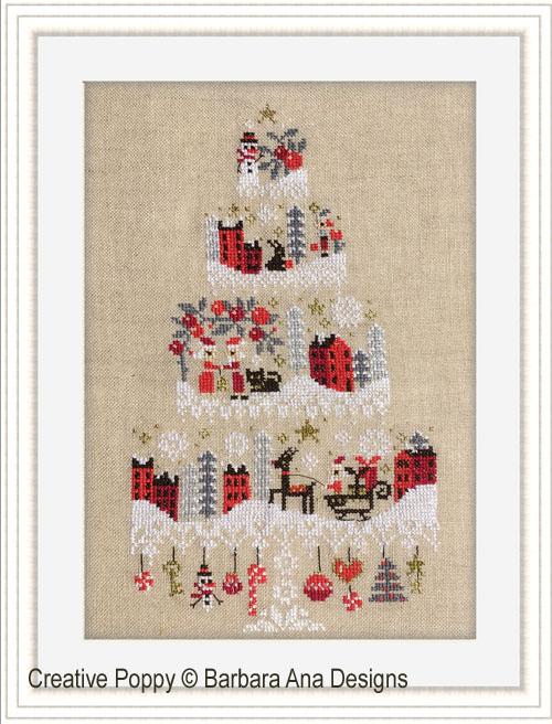 Christmas Cake - Mystery chart SAL cross stitch pattern by Barbara Ana Designs