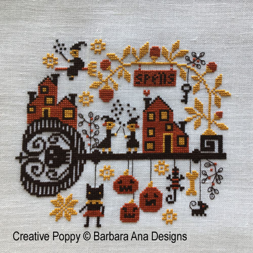 Spellville cross stitch pattern by Barbara Ana designs
