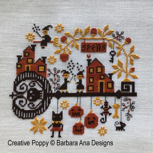 Spellville cross stitch pattern by Barbara Ana designs