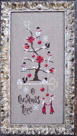 O Christmas Tree cross stitch pattern by Barbara Ana designs