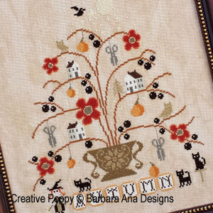 Barbara Ana - Autumn (cross stitch pattern chart) (zoom1)