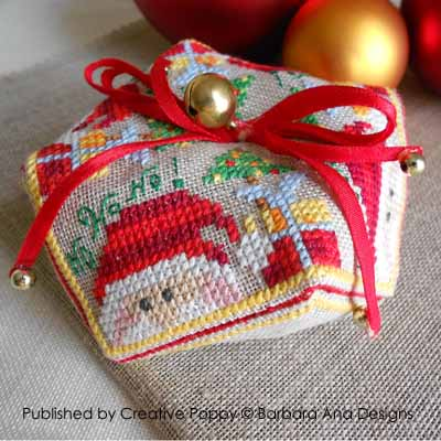 Christmas Biscornu cross stitch pattern by Barbara Ana Designs