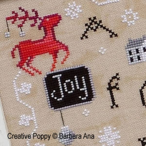 Christmas Joy cross stitch pattern by Barbara Ana designs, zoom 1