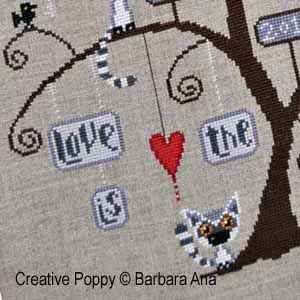Barbara Ana - Lemurtine Tree (cross stitch pattern chart )