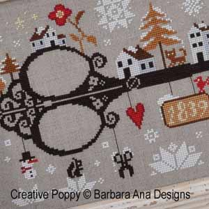 Barbara Ana - Let it Snow (cross stitch pattern chart) (zoom1)