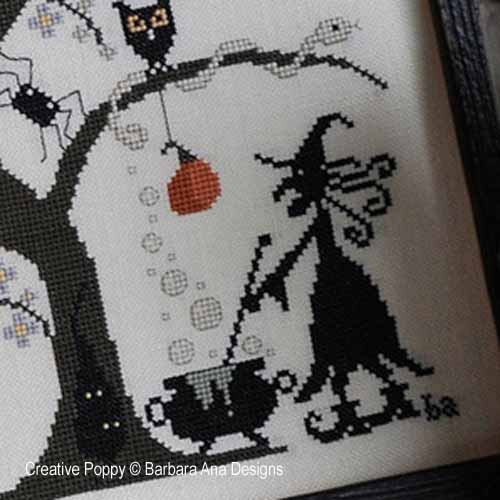 Cross stitch patterns for Halloween, designed by Barbara Ana