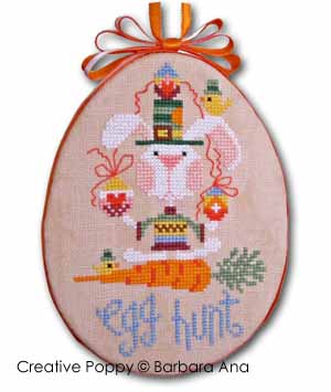 Barbara Ana - Egg Hunt Easter ornament (cross stitch pattern )