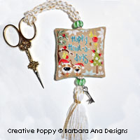Happy Howl-a-days Scissor Fob