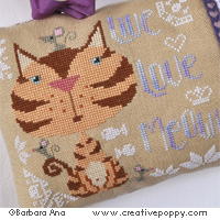 Cats cross stitch patterns designed by <b>Barbara Ana Designs</b>