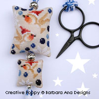 Christmas Robins Scissor Fob cross stitch pattern by Barbara Ana designs
