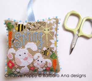 Spring Scissor Fob cross stitch pattern by Barbara Ana Designs