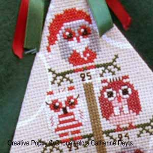 Christmas Owls Tree, advent calendar