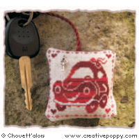 Chouett'alors - Car keys - Keyring (cross stitch)