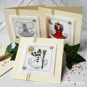 Petite Faby Christmas cards cross stitch pattern by Faby Reilly designs