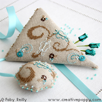 <b>Butterfly Scissor case</b><br>cross stitch pattern<br>by <b>Faby Reilly Designs</b>