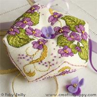 Violet Biscornu - cross stitch pattern - by Faby Reilly Designs