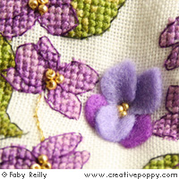 Violet Biscornu - cross stitch pattern - by Faby Reilly Designs (zoom 1)