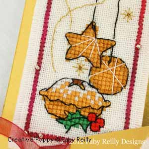 cross stitch patterns for Christmas baking: cookies, cakes, gingerbread man (zoom1)