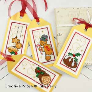 Christmas Gift Tags, 3 - Xmas Baking  cross stitch pattern by Faby Reilly Designs