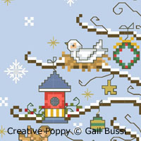 A Christmas Song, counted cross stitch chart, designed by Gail Bussi, Rosebud Lane