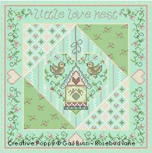 Little love nest cross stitch pattern