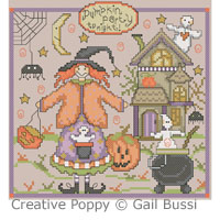 Pumpkin party! - cross stitch pattern - by Gail Bussi - Rosebud Lane