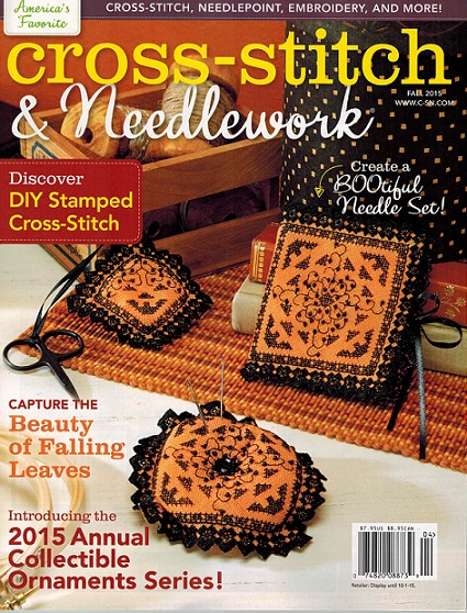 As featured in Cross stitch and Needlework magazine Fall 2015