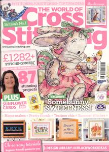 As featured in The World of Cross Stitching magazine issue 231 on sale July 2015