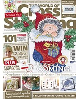 As featured in The World of Cross Stitch magazine issue 235 on sale November 2015