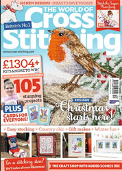 As featured in World Of Cross stitching magazine issue 234 on sale October