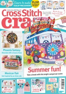 As featured in Cross Stitch Crazy magazine issue 243 on sale 243