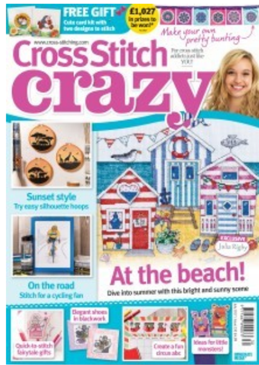 As featured in Cross Stitch Crazy magazine issue 230 on sale May/June 2017