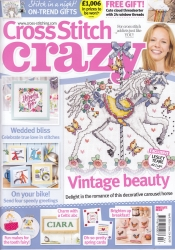 As featured in Cross stitch Crazy magazine issue 214 on sale February/March 2016