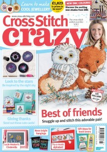 As featured in Cross stitch Crazy magazine issue 237 on sale December