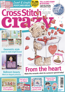 As featured in Cross Stitch Crazy magazine issue 238 on sale Jan-Feb 2018