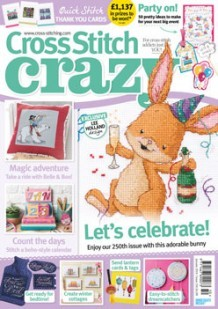As featured in Cross Stitch Crazy magazine issue 250 on sale December 2018 / January 2019