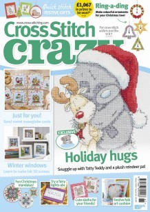 As featured in Cross stitch Crazy magazine - Christmas issue 261 on sale September-October 2019