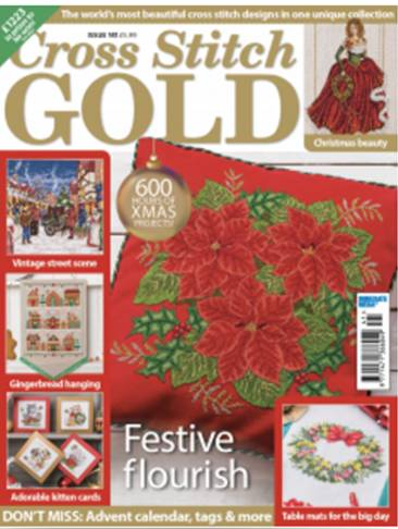 As featured in Cross Stitch Gold magazine issue 141 on sale September 2017
