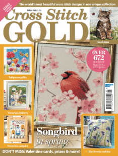 As featured in Cross stitch Gold magazine issue 153 on sale January/February 2019