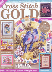 As featured in Cross Stitch Gold magazine issue 126 on sale Jan/Feb 2016