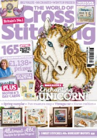 As featured in World of Cross stitch magazine issue 278 on sale February 2019