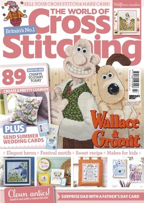 As featured in The World of Cross stitching magazine issue 307 on sale April/May 2021