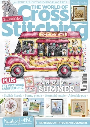 As featured in The World of Cross stitching magazine issue 309 on sale June/July 2021