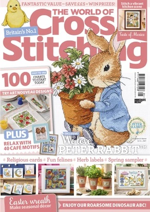 As featured in The World of Cross stitching magazine issue 305 on sale February - March 2021