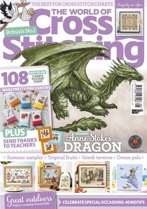 As featured in The World of Cross stitching magazine issue 308 on sale May/June 2021