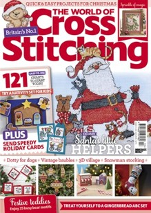 As featured in The World of Cross stitching magazine issue 313 on sale October - November 2021