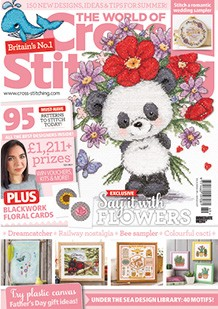As featured in The World of Cross stitching magazine issue 269 on sale May / June 2018