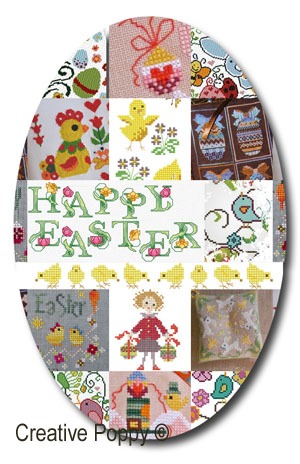 Counted cross stitch patterns for Easter