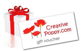 Creative Poppy cross stitch Gift Vouchers