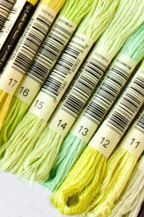 35 new DMC embroidery floss colors - green range 11-12-13-14-15-16